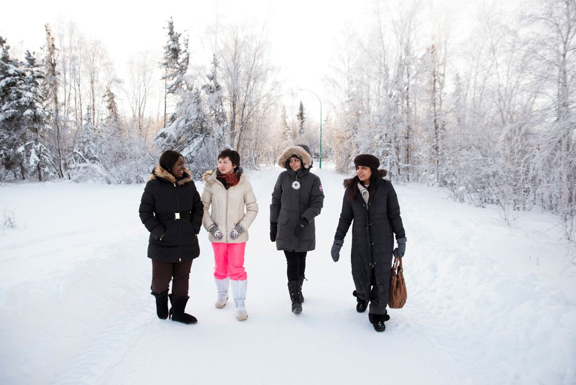 Immigrate NWT - Business Support: People in the Snow