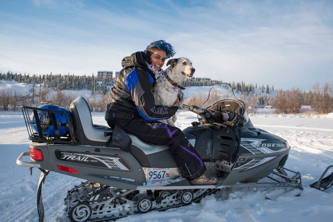 Welcome to the Northwest Territories - Snowmobile in Winter